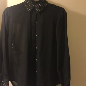 Vince Camuto Black button up blouse.